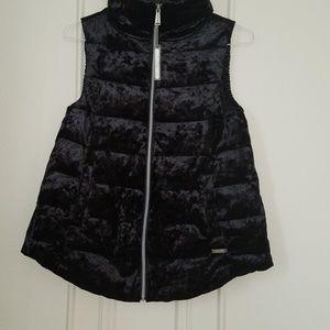 Calvin Klein Crushed Velvet Down Vest